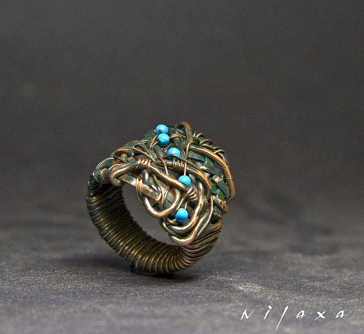 Кольца ручной работы. Ярмарка Мастеров - ручная работа. Купить Медное кольцо Лечея. Handmade. Украшения, nilaxa