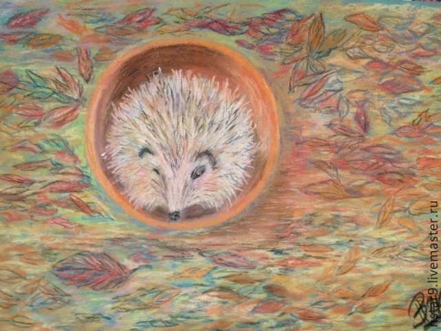 hedgehog in the autumn Park, Pictures, Moscow,  Фото №1