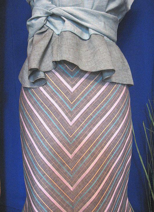 """Костюмы ручной работы. Ярмарка Мастеров - ручная работа. Купить Скидка 30% Платье-костюм из льна """"Петербург"""" с юбкой на подкладке. Handmade."""