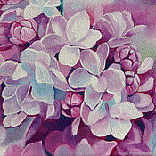 Картины и панно handmade. Livemaster - original item Painting Lilac flowers, oil on canvas 18h24. Handmade.
