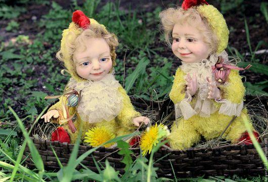 Мишки Тедди ручной работы. Ярмарка Мастеров - ручная работа. Купить Цыплята. Handmade. Желтый, игрушка ручной работы