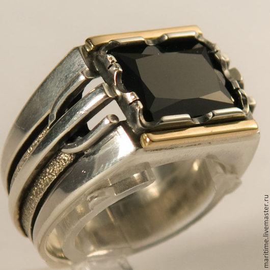 Украшения для мужчин, ручной работы. Ярмарка Мастеров - ручная работа. Купить Мужское кольцо со шпинелью Black. Handmade. шпинель