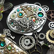 Субкультуры ручной работы. Ярмарка Мастеров - ручная работа Стимпанк зеркало, зеркальце, зеркало в стиле  Стимпанк / Steampunk. Handmade.
