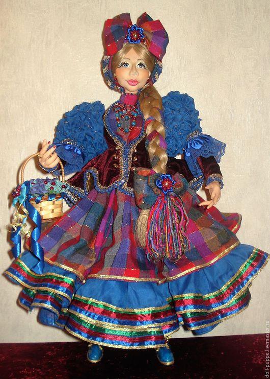 Коллекционные куклы ручной работы. Ярмарка Мастеров - ручная работа. Купить Авторская,интерьерная кукла «Фрау Марта». Handmade.