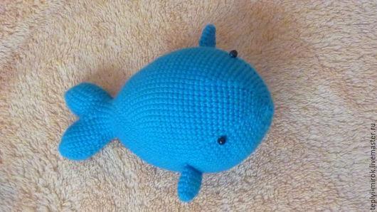Игрушки животные, ручной работы. Ярмарка Мастеров - ручная работа. Купить Маленький синий кит. Handmade. Синий, Вязание крючком