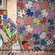 """Текстиль, ковры ручной работы. Заказать """"Сolor maple leaves"""". Shar (Шарова Татьяна). Ярмарка Мастеров. Лоскутное шитье, листья"""