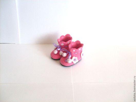 Обувь ручной работы. Ярмарка Мастеров - ручная работа. Купить Пинетки валяные Нежные цветочки. Handmade. Розовый, детская обувь