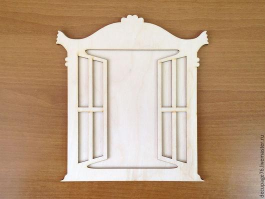 Панно `Окно`  (продается в разобранном виде в палетках) Размер 22х24 см  Внутренний размер `окна` 15,5х17 см Материал: фанера 3 мм