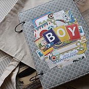 Канцелярские товары handmade. Livemaster - original item Album for boy. Handmade.