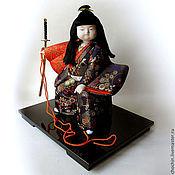 Куклы и пупсы ручной работы. Ярмарка Мастеров - ручная работа Кэнтаро, сын самурая - коллекционная кукла kimekomi кимекоми кимэкоми. Handmade.