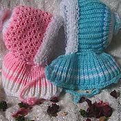 """Работы для детей, ручной работы. Ярмарка Мастеров - ручная работа шапка-шлем на выписку""""Мамина радость"""". Handmade."""