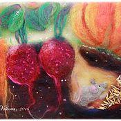 """Картины и панно ручной работы. Ярмарка Мастеров - ручная работа Картина из шерсти """"Урожай"""". Handmade."""