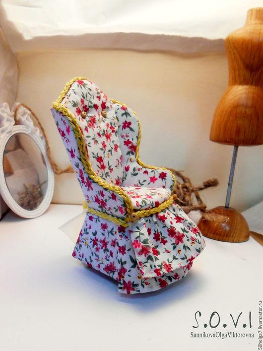 Миниатюрные модели ручной работы. Ярмарка Мастеров - ручная работа. Купить Кресло для румбокса в стиле прованс. Handmade. Розовый, сувенир