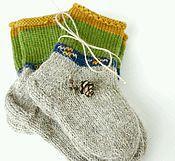 Аксессуары ручной работы. Ярмарка Мастеров - ручная работа Детские шерстяные носочки. Handmade.