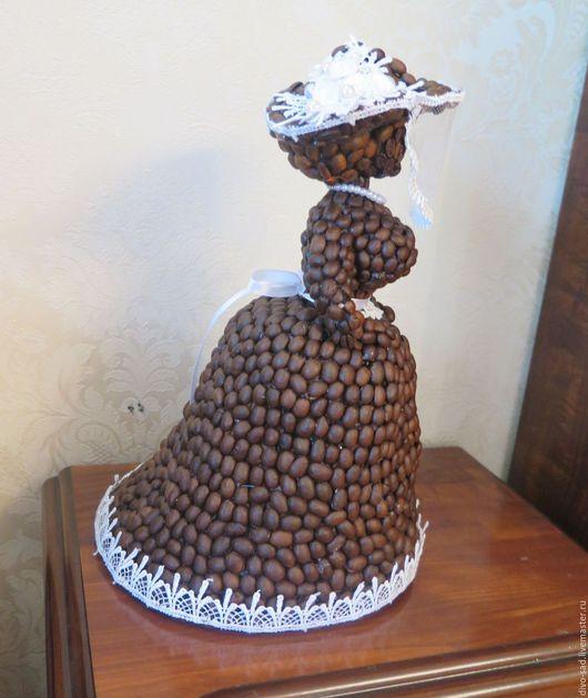Подарки для мужчин, ручной работы. Ярмарка Мастеров - ручная работа. Купить Кофейная барышня. Handmade. Коричневый, шляпка, кофейный сувенир