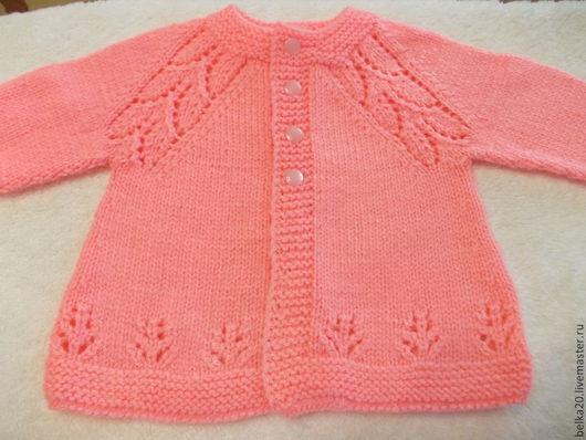 Одежда для девочек, ручной работы. Ярмарка Мастеров - ручная работа. Купить Розовая кофточка. Handmade. Однотонный, кофточка для малышки