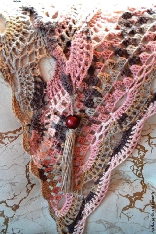 """Шарфы и шарфики ручной работы. Ярмарка Мастеров - ручная работа. Купить Бактус """"Византия"""", розовый дым. Handmade. Бактус"""