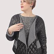 Одежда handmade. Livemaster - original item The jacket is black short quilted under your belt. Handmade.