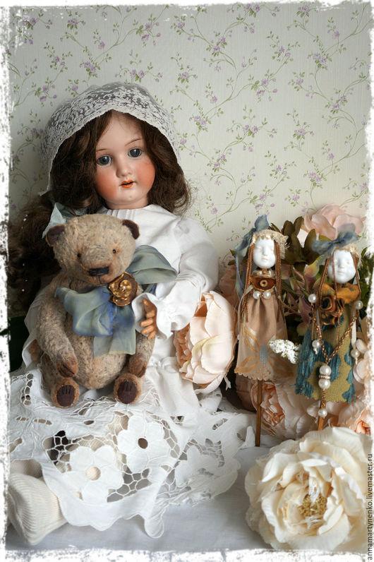Мишки Тедди ручной работы. Ярмарка Мастеров - ручная работа. Купить Плюшевый мишка. Handmade. Бежевый, винтажный плюш