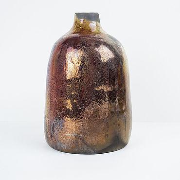 Для дома и интерьера ручной работы. Ярмарка Мастеров - ручная работа Вазы: Небольшая медная ваза раку. Handmade.