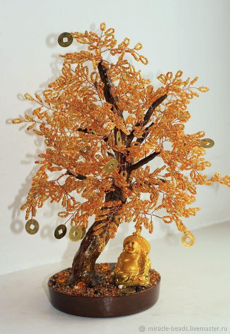 """Денежное дерево из бисера. """"Будда"""", Деревья, Чебоксары,  Фото №1"""