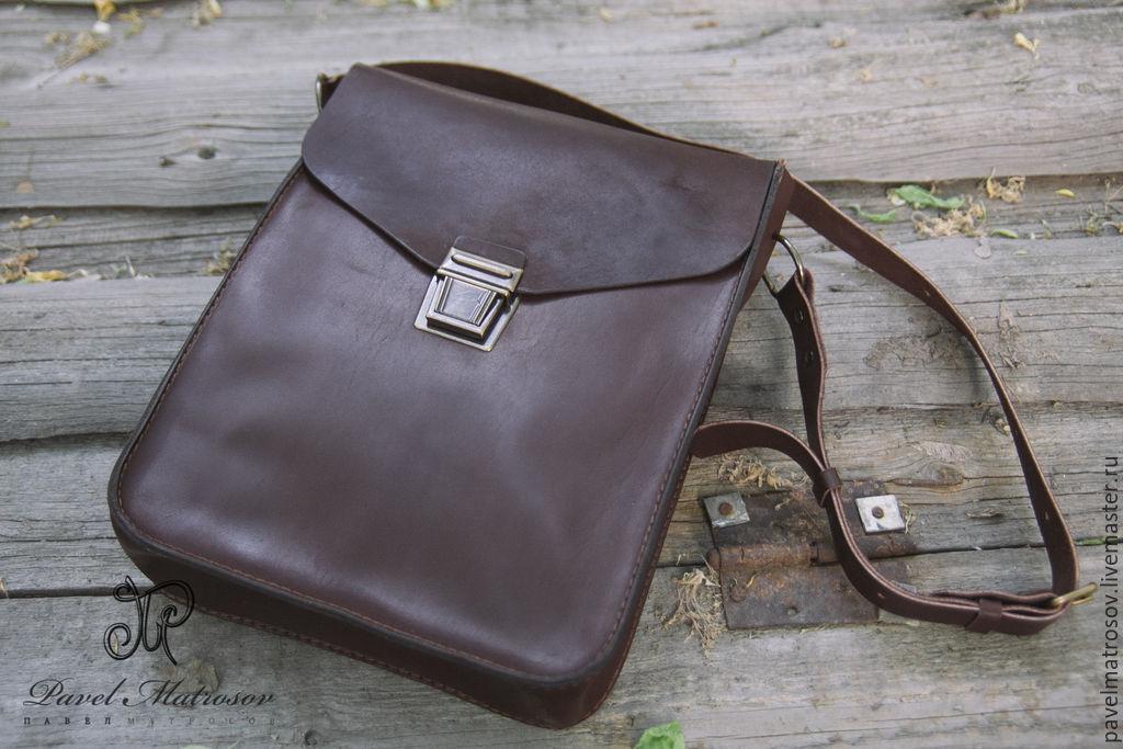 c6a41dc47e1d Павел Матросов (pavelmatrosov) Мужские сумки ручной работы. Заказать Сумка- планшет из кожи. Павел Матросов (pavelmatrosov