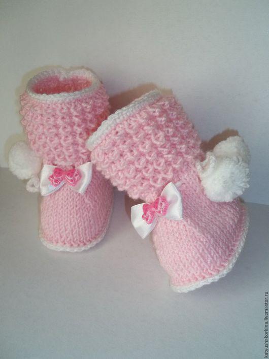 Для новорожденных, ручной работы. Ярмарка Мастеров - ручная работа. Купить вязание для новорожденных. Handmade. Малышки, розовый, однотонный, девочка