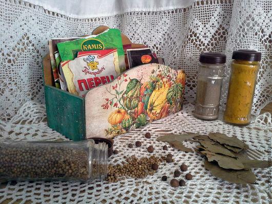 """Кухня ручной работы. Ярмарка Мастеров - ручная работа. Купить Короб  для специй """"Осень"""". Handmade. Декупаж, подставка для специй, Декор"""