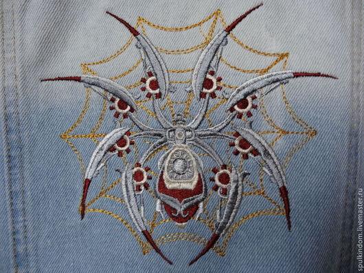 Вышивка `Стальной паук` `Шпулькин дом` мастерская вышивки