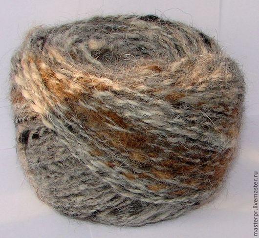 Пряжа лечебная «Звезда Кавказа меланж» для ручного вязания  155метров100грамм . Состав : 100% пух кавказской овчарки . Ручное прядение .