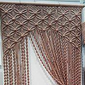 Для дома и интерьера ручной работы. Ярмарка Мастеров - ручная работа штора макраме в романском стиле. Handmade.