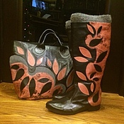 """Обувь ручной работы. Ярмарка Мастеров - ручная работа Комплект """"Весенняя история"""". Handmade."""