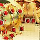 """Комплекты украшений ручной работы. Ярмарка Мастеров - ручная работа. Купить Комплект """"Диана"""". Handmade. Ярко-красный, подарок женщине"""
