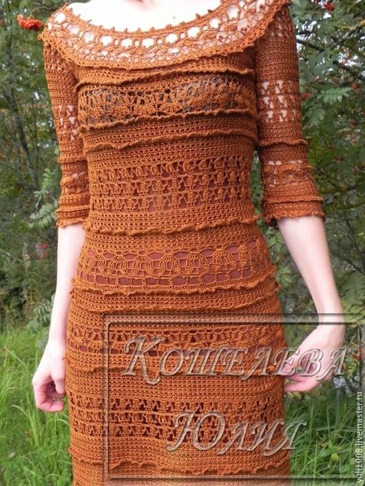 Платья ручной работы. Ярмарка Мастеров - ручная работа. Купить платье женское. Handmade. Платье вязаное