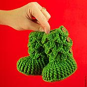 """Работы для детей, ручной работы. Ярмарка Мастеров - ручная работа Пинетки """"Крокодильчики"""". Handmade."""