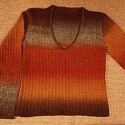 Одежда ручной работы. Ярмарка Мастеров - ручная работа Джемпер из кауни. Терракота. Handmade.