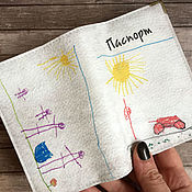 Канцелярские товары handmade. Livemaster - original item Covers with children`s drawings. Handmade.