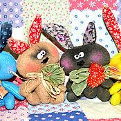 Куклы и игрушки ручной работы. Ярмарка Мастеров - ручная работа Мини - зайки, мини - мишки.. Handmade.
