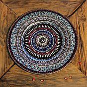 """Посуда ручной работы. Ярмарка Мастеров - ручная работа Декоративная тарелка """"Мечты о бирюзе"""". Handmade."""