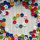 Пластиковые пуговицы Цветочки 12мм