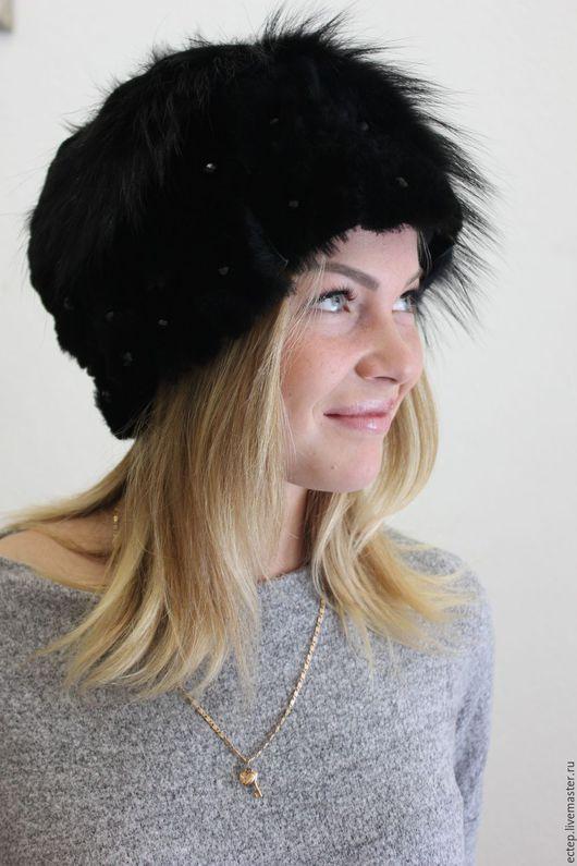 """Шляпы ручной работы. Ярмарка Мастеров - ручная работа. Купить Шляпка """"Принцесса"""". Handmade. Меховая шапка, зимняя шапочка"""