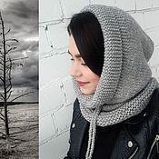 Аксессуары handmade. Livemaster - original item Cap-hood gray. Handmade.