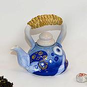Посуда ручной работы. Ярмарка Мастеров - ручная работа Чайник керамический заварочный.. Handmade.