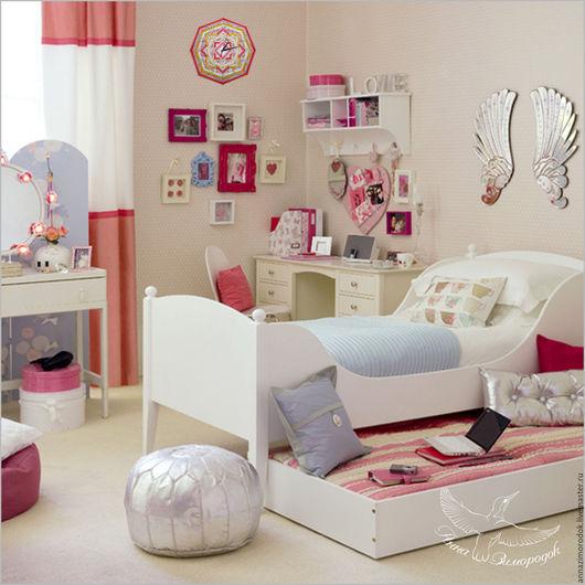 Часы для дома ручной работы. Ярмарка Мастеров - ручная работа. Купить Часы настенные в детскую мандала Принцесса звезда розовый. Handmade.