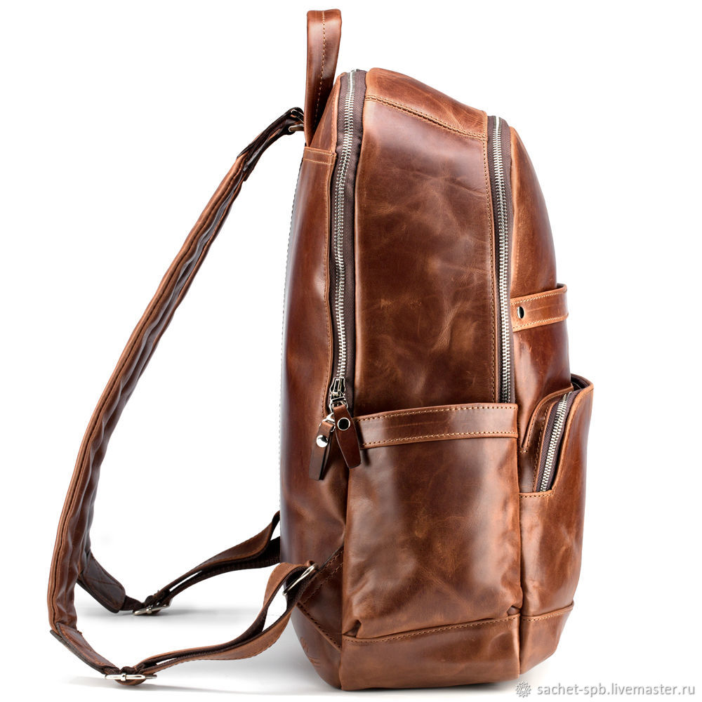 6d11cfe2c9 Order Leather backpack  Goodwin  (antique brown). Russian leather Backpacks  handmade.