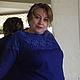 Кофты и свитера ручной работы. Заказать Туника Сине-голубая с кружевом.. image4you (Лариса). Ярмарка Мастеров. Туника, весенняя мода