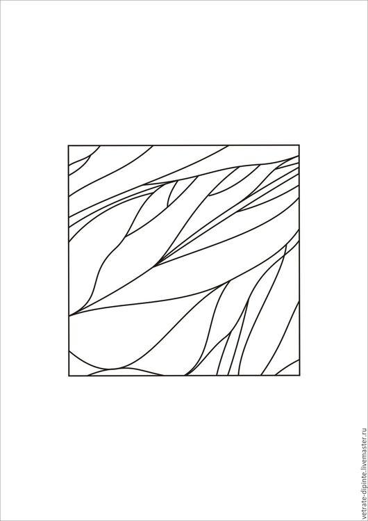 Другие виды рукоделия ручной работы. Ярмарка Мастеров - ручная работа. Купить калька, контурный рисунок(выкройка наволочки). Handmade.