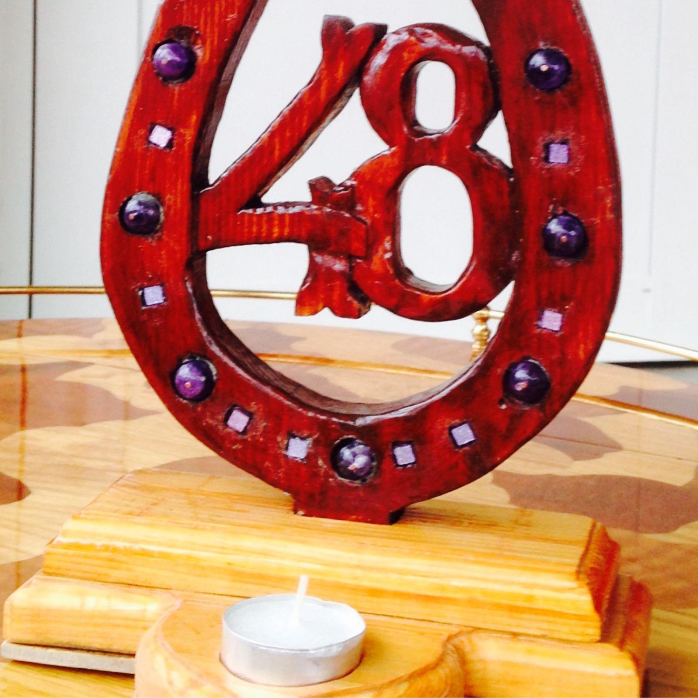 Памятный знак годовщины свадьбы. Ручная работа, резьба по дереву, Подарки, Москва,  Фото №1