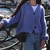Одежда handmade. Livemaster - original item Women`s knitted mohair cardigan. Handmade.