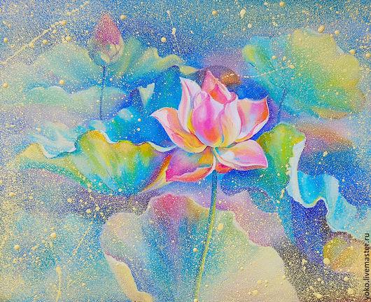 """Картины цветов ручной работы. Ярмарка Мастеров - ручная работа. Купить """"Рождение из Света"""" авторская картина маслом на холсте. Handmade."""